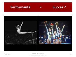 Performanta si succes