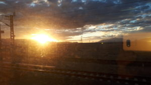 Primul apus văzut din trenul transtibetan