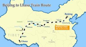 Traseul de la Beijing la Lhasa, cu trenul